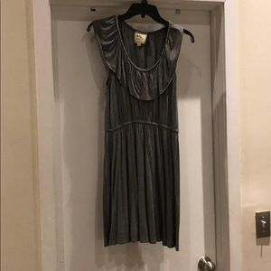 Grey Pink Rose Dress L